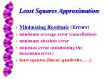 least squares approximation