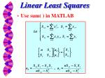 linear least squares3