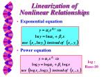 linearization of nonlinear relationships1
