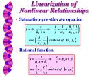 linearization of nonlinear relationships2