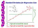 standard deviation for regression line