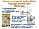 asian commercial and political voyages on the seas continued