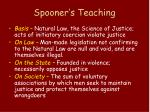 spooner s teaching