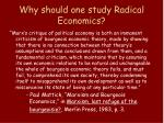 why should one study radical economics3