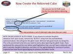 now create the rebinned cube