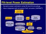 flit level power estimation