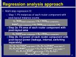 regression analysis approach