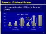 results flit level power