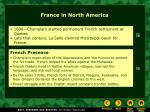 france in north america