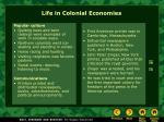 life in colonial economies
