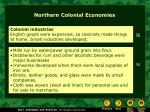 northern colonial economies2