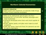 northern colonial economies2