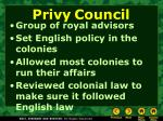privy council