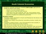 south colonial economies