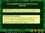 the enlightenment and the american colonies