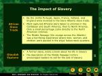 the impact of slavery