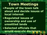 town meetings