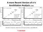 a more recent version of e e annihilation analysis 2008