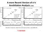 a more recent version of e e annihilation analysis 2008