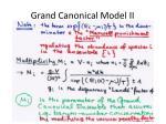 grand canonical model ii