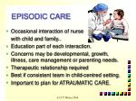 episodic care