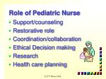 role of pediatric nurse1