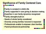 significance of family centered care