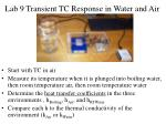 lab 9 transient tc response in water and air