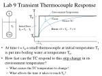 lab 9 transient thermocouple response