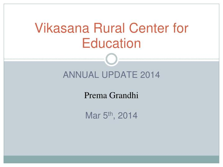 vikasana rural center for education n.