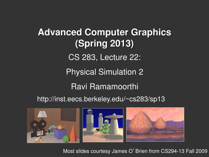 PPT - Advanced Computer Graphics (Spring 2013) PowerPoint