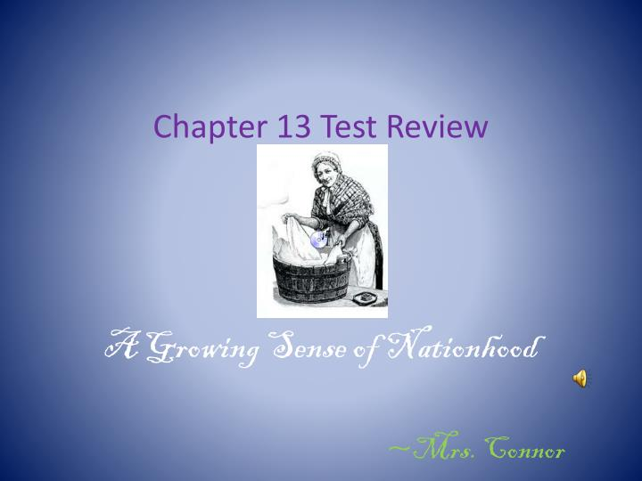 chapter 13 test review n.