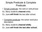 simple predicate complete predicate