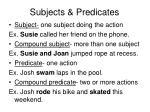 subjects predicates