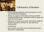 5 behaviors of readers