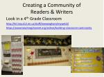 creating a community of readers writers