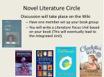 novel literature circle