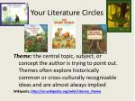 your literature circles