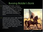 burying biddle s bank