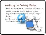 analyzing the delivery media1