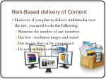 web based delivery of content2