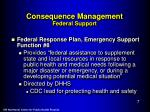 consequence management federal support