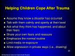 helping children cope after trauma