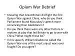 opium war debrief