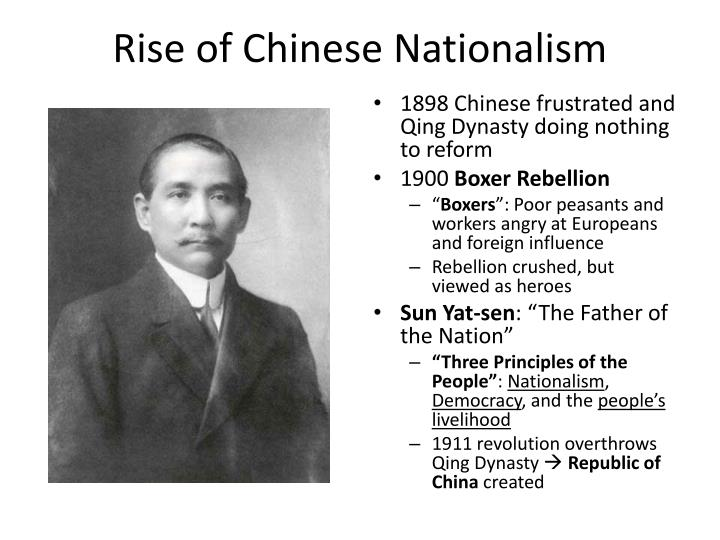 Rise of Chinese Nationalism