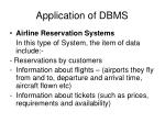 application of dbms