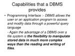 capabilities that a dbms provides1