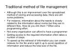 traditional method of file management1