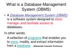 what is a database management system dbms