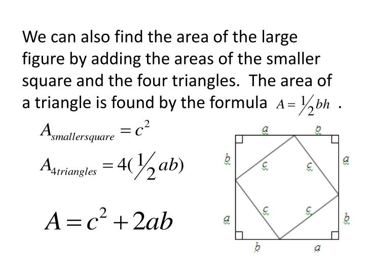 We can also find the area of the